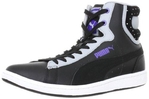Puma First Round Super Lcity W, baskets sportives femme Noir - Schwarz (black-quarry-violet storm 02)