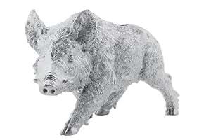 Kare 66716 Tirelire sanglier en chrome 56 x 20 x 32 cm