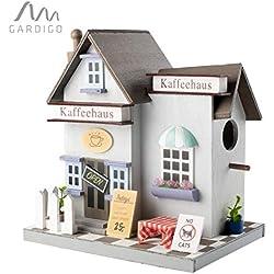 Gardigo - Nichoir à Oiseaux Café | Maison, Nid pour Oiseaux, Mésanges à Suspendre, Extérieur | Décoration Jardin, Terrasse ou Balcon