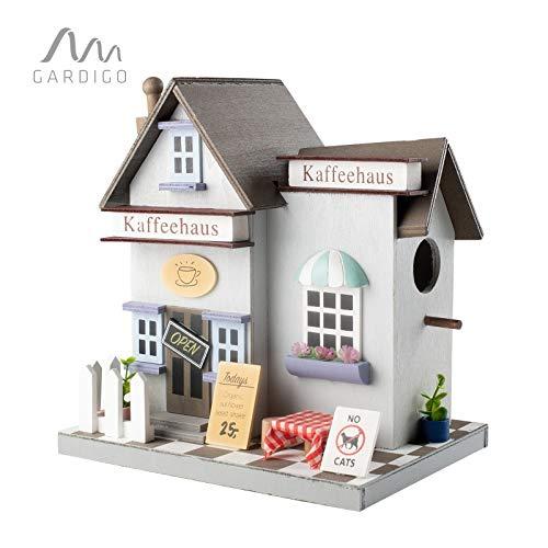 Gardigo - Nido para Pájaros Café; Casa para Pájaro; Casita Decoración de Jardín, Terraza o Balcón