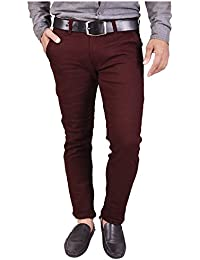 Nation Polo Club Men's Slim Fit Cotton Lycra Blend Casual Trouser