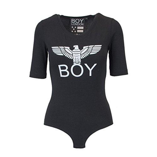 73108d9932 Boy London Damen Kurzarm Body BL1019 Schwarz -initiative-heidelberg.de