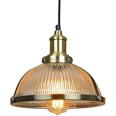 Vashti lámpara colgante/Tubo de luz/lámpara de techo/Americanas esstischlampe/Plafón/proyección cuerda hängel lámpara araña de techo único de cristal, diámetro 26cm altura 22cm