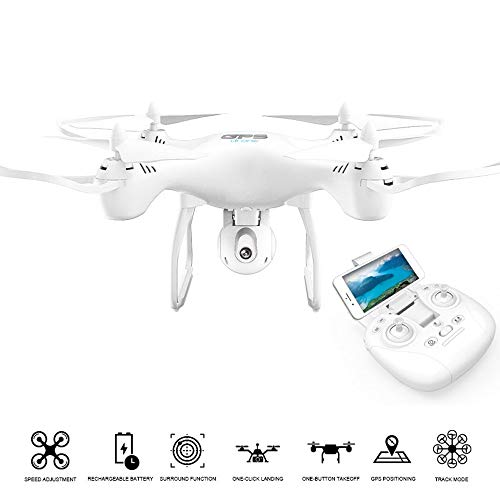 DRONE QUADRICOTTERO RADICOMANDATO GPS HEADLESS WIFI FPV CAMERA HD VIDEO FOTO