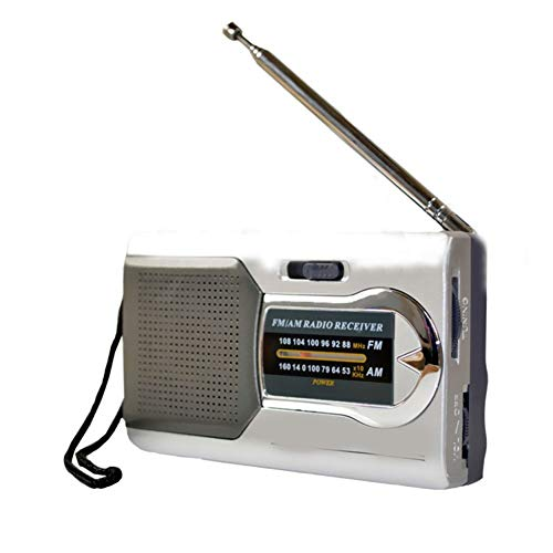 Yanbirdfx Tragbares Radio DC 3 V Mini AM/FM Teleskop Antenne Radio Pocket World Receiver -