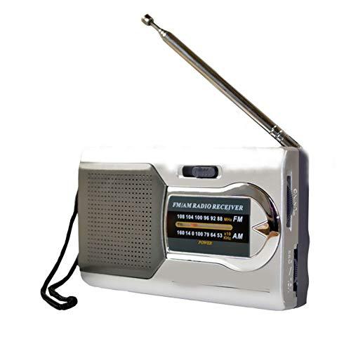 Yanbirdfx Tragbares Radio DC 3 V Mini AM/FM Teleskop Antenne Radio Pocket World Receiver Cell Antenne Adapter