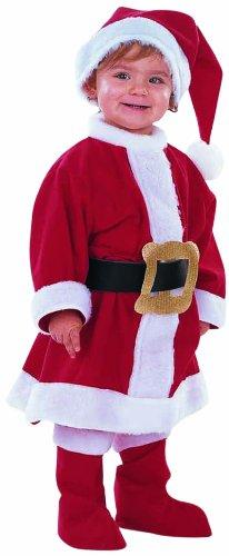 Limit Sport Mascarada MB030 Gr.1 - Weihnachtsfrau Kostüm, Größe 1, rot/weiß/schwarz
