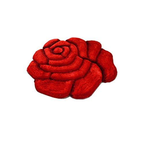 Alfombras Decorativas de área para Sala de Estar Rosas Redondas Rojas Alfombra Salón Dormitorio Silla giratoria de cabecera Silla de Ordenador Niño Matrimonio Habitación de Matrimonio Alfombra