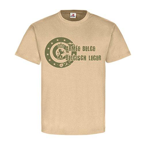 Armée belge Belgisch leger Belgische Streitkräfte Belgische Armee Logo Wappen Abzeichen Belgien Militär Army - T Shirt Herren khaki #18567