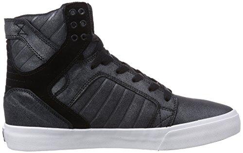 Supra Skytop, Baskets Homme - Noir (black / Metallic - White  Blk), 44 EU Noir (black / Metallic - White   Blk)