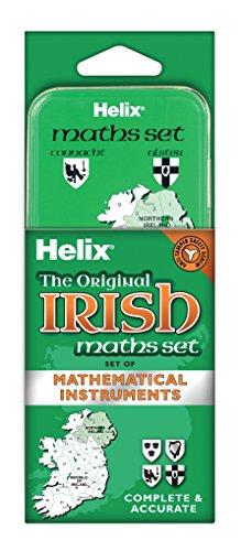 Helix B09000 Zeichenset für den Mathematik-Unterricht, in Blechdose mit irischen Thema