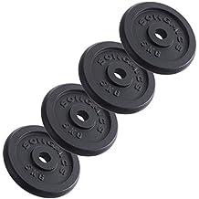 SONGMICS Discos de Pesa para musculación 4 x 5 kg SYL02T