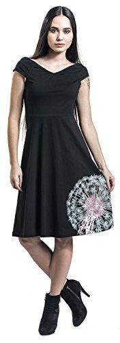 Pussy Deluxe Dandelion Dream Off Shoulder Dress Abito nero Nero