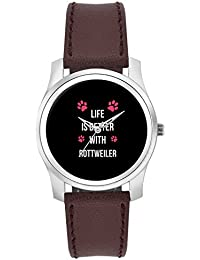 BigOwl Life Is Better With Rottweiler | Best Gift For Rottweiler Dog Lovers Fashion Watches For Girls - Awesome...