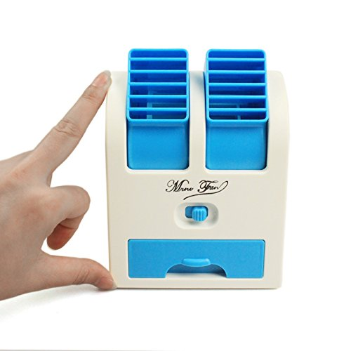 Numex NU063 Mini Small Fan Cooling Portable Desktop Dual Bladeless...