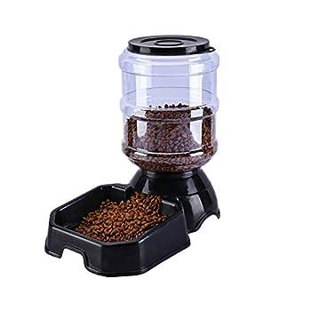 KEYUAN Distributeur Automatique de Nourriture, Automatique Distributeur de croquettes Gamelle pour Chiens et Chats (3.8L)