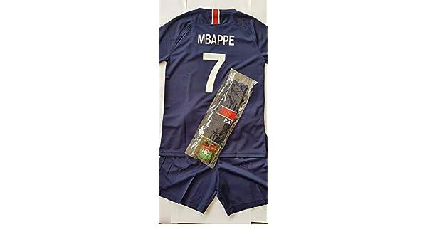 a8ee6669b7 4F sport performance Maglia Pantaloncini Calcio PSG Paris MBAPPEE Bambino N  7 12 Anni: Amazon.it: Sport e tempo libero