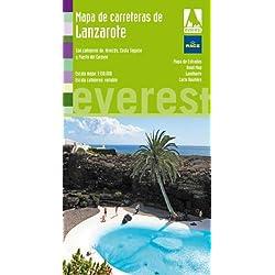 Mapa de carreteras de Lanzarote: Con callejeros de: Arrecife, Costa Teguise y Puerto del Carmen (Mapas provinciales/serie verde)