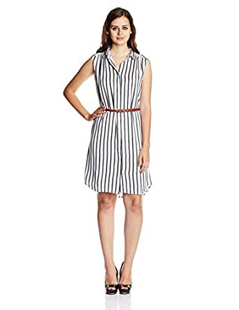 Chemistry Women's Shirt Dress (M15-058WDKDR_Paul Stripe_L/99)