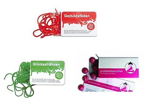 Preisvergleich Produktbild Liebeskummerpillen Spaß Paket (Geduldsfäden,  Glückssträhnen,  Problemlöserpillen)