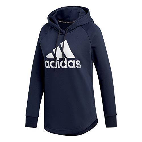 adidas Damen W MH BOS OH HD Sweatshirt Legend Ink/White M