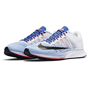 Nike Wmns Air Zoom Elite 9, Zapatillas de Running para Mujer, (Aluminum/White/Medium Blue/Black), 37.5 EU
