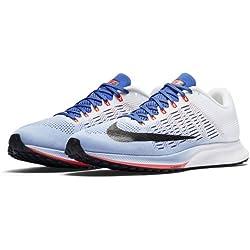 Nike Wmns Air Zoom Elite 9, Zapatillas de Running para Mujer, (Aluminum/White/Medium Blue/Black), 36.5 EU
