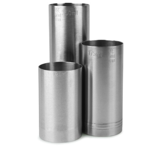 Stainless Steel Thimble Wine Measures 3 Piece Bundle Set 125ml, 175ml & 250ml CE | Bar ...