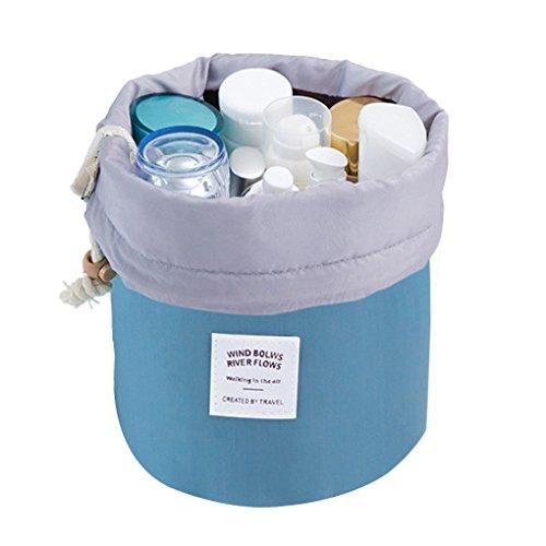 Trousse de Toilette Imperméable Sac de Rangement avec Cordon de Serrage Grande Capacité Pour ValiseVoyage -Bleu