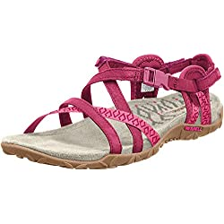 Merrell Terran Lattice Ii, Sandales Femme, Rouge (Fuchsia), 39 EU (6 UK)