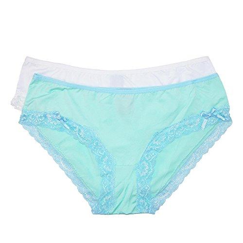 446d5a7d535ff Rene Rofe - Braguitas - Básico - para Mujer Verde Verde Blanco Small