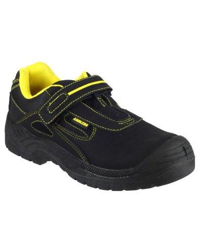 Amblers-Safety FS77 unisexe Hommes Dames travail nouvelles chaussures en cuir Black