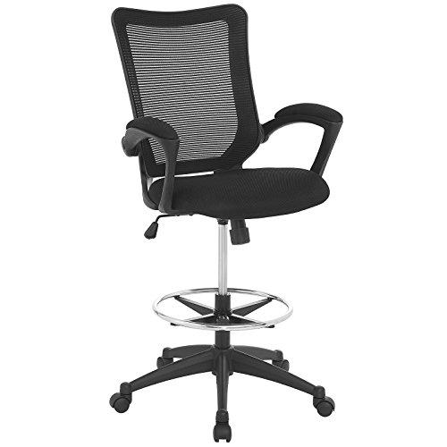Zähler Höhe Tisch Hocker (Modway Project Ausarbeitung Stuhl in schwarz-Rezeption Stuhl-Hoch Bürostuhl für Stehen Schreibtische-Zähler Höhe Ausarbeitung Tisch Stuhl)