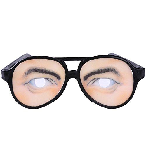 Party-Female lustigen Brille Fake-Neuheit-Gag-Streich-Augen-Ball-Witz-Spielzeug (a) (Bestes Halloween-witze)