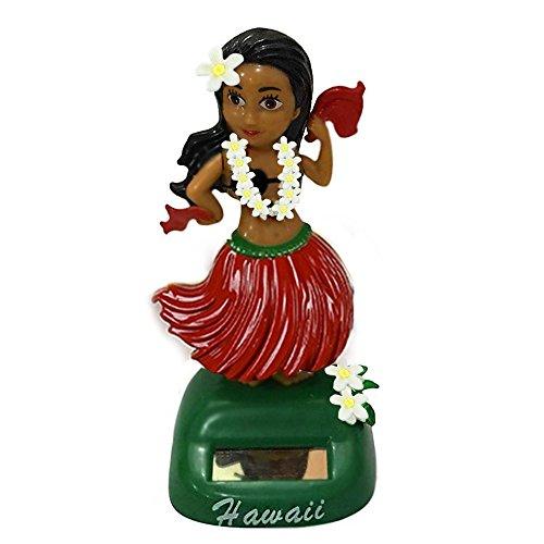 Loriver Hawaii Mädchen Auto Solarbetriebenes Tanzen Animal Swinging Animated Bobble Tänzerin-Spielzeug #1