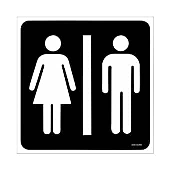 SignageShop Toilet/Washroom Sign Board Size: 8 Inch X 8 Inch