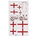 LIHAO Fan-Schminke England für EM 2017 Flagge Tätowierungen Fußball Weltmeisterschaft (4 Stk.)