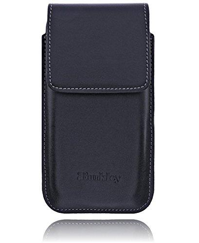 Apple iPhone 5 SE Slim Hülle Leder Handyhülle / 5 / 5S / Leder Handy-Gürtel-Tasche | Schutzhülle | Handytasche | Vertikal-Tasche | Holster | Case | Cover | Hülle mit Gürtel-Schlaufe und Gürtel-Clip (Schwarz / Vertikal) (Flap Bag Schwarz-leder)