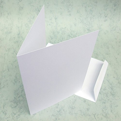 Blank greetings cards - six smooth white plain A4+ for sale  Delivered anywhere in UK