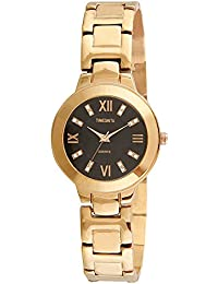 Timesmith Premium Limited Edition Black Dial Gold Stainless Steel Strap Branded Anaog Watch For Women TSM-128