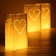 30pcs nuevo corazón té titular de la luz Luminaria linterna de papel vela bolsa para barbacoa fiesta de Navidad boda