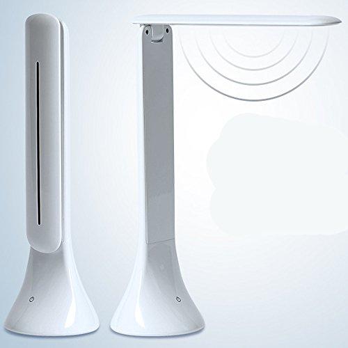 Wanson Tischlampe Modernes Wohnzimmer Schlafzimmer Schreibtisch Lampe LED Klapptisch Leuchten USB Licht Durchmesser 7.8 Cm Weiße Pflege Lampe - Wohnzimmer Metall Klapptisch