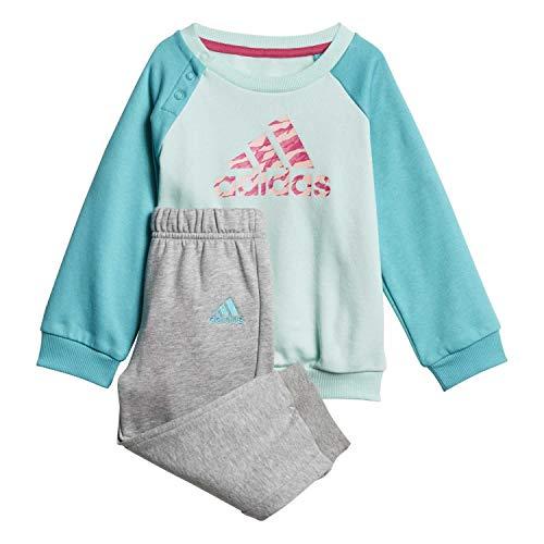 adidas Baby Logo Jogger Fleece Trainingsanzug, Clear Mint/Hi-Res Aqua Pink/Real Magenta, 86