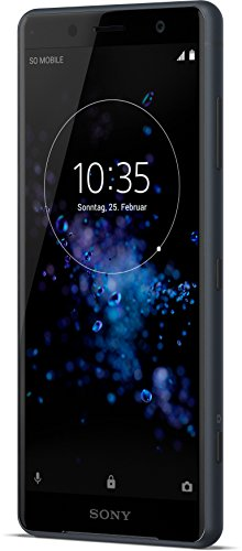Sony Xperia XZ2 Compact Smartphone (12,7 cm (5,0 Zoll) IPS Full HD+ Display, 64 GB interner Speicher und 4 GB RAM, Dual-SIM, IP68, Android 8.0) black - Deutsche Version (Telefon-lautsprecher Android)