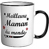 """Tasse à café / Cadeau message """"Meilleure Maman du monde"""""""