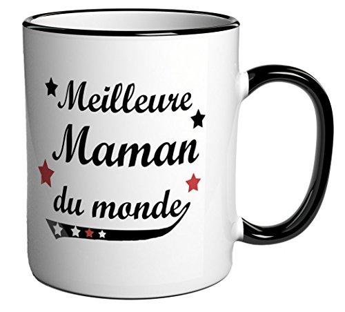 Tasse à café / Cadeau message 'Meilleure Maman du monde'