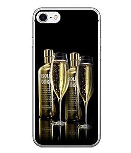 PrintVisa Designer Back Case Cover for Apple iPhone 6s Plus :: Apple iPhone 6s+ (Couple Whisky Bottles Pair of Glasses)