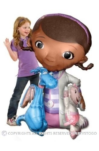 DOC MCSTUFFINS BALLOON BIRTHDAY PARTY AIRWALKER 52 154CM BALLOON DECORATIONS SUPPLIES STANDS MOVES AROUND by Anagram (Doc Mcstuffins Birthday Supplies Party)