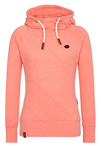 Naketano Female Hoody Mandy Coral Red Melange, L