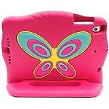 iPad mini 1 2 3 Funda para niños - espuma EVA de alta calidad - peso muy bajo - diseño original de mariposa - con función de mango y soporte - rosa